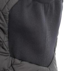 Donsbodywarmer voor trekking dames zwart - 1052894