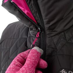 Donsbodywarmer voor trekking dames zwart - 1052897