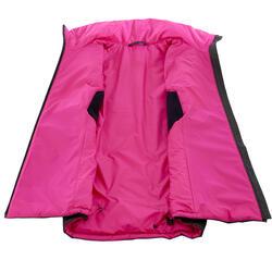 Donsbodywarmer voor trekking dames zwart - 1052899