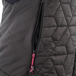 Donsbodywarmer voor trekking dames zwart - 1052900