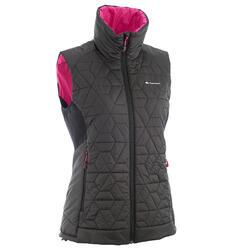 Donsbodywarmer voor trekking dames zwart - 1052902