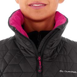 Donsbodywarmer voor trekking dames zwart - 1052903