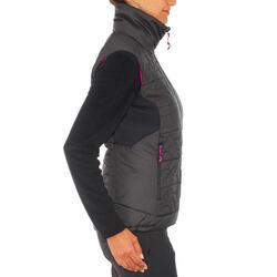 Donsbodywarmer voor trekking dames zwart - 1052905