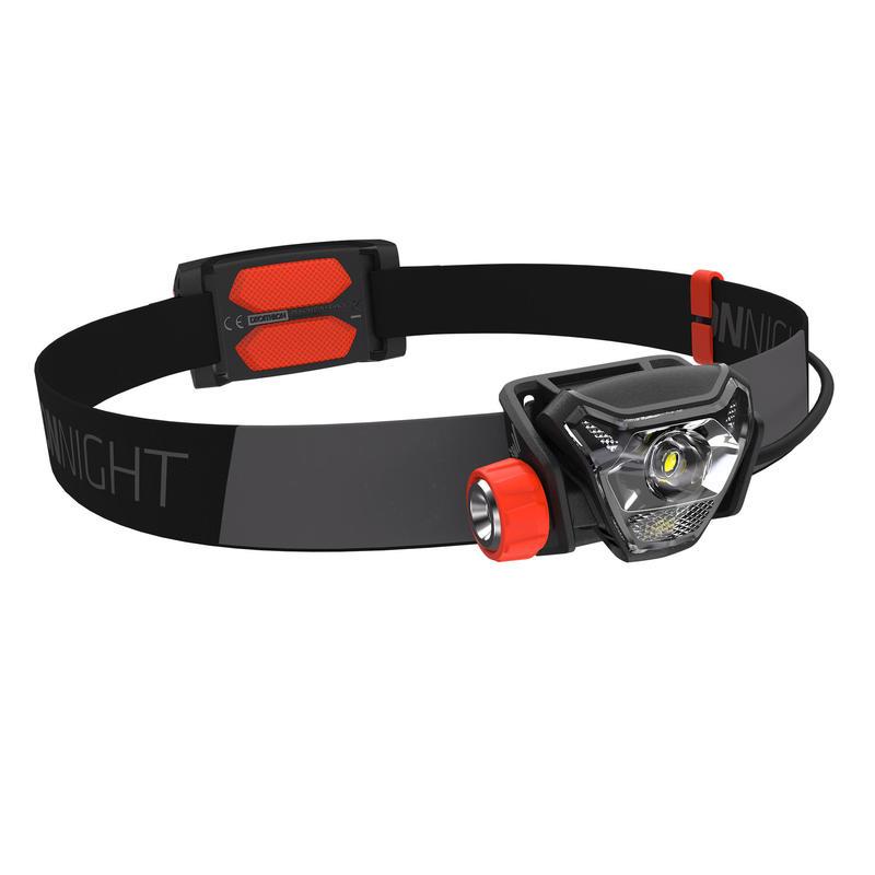 ไฟฉายคาดศีรษะสำหรับการวิ่งเทรลรุ่น OnNight 710 ค่าความสว่าง 300 ลูเมน (สีดำ/ส้ม)