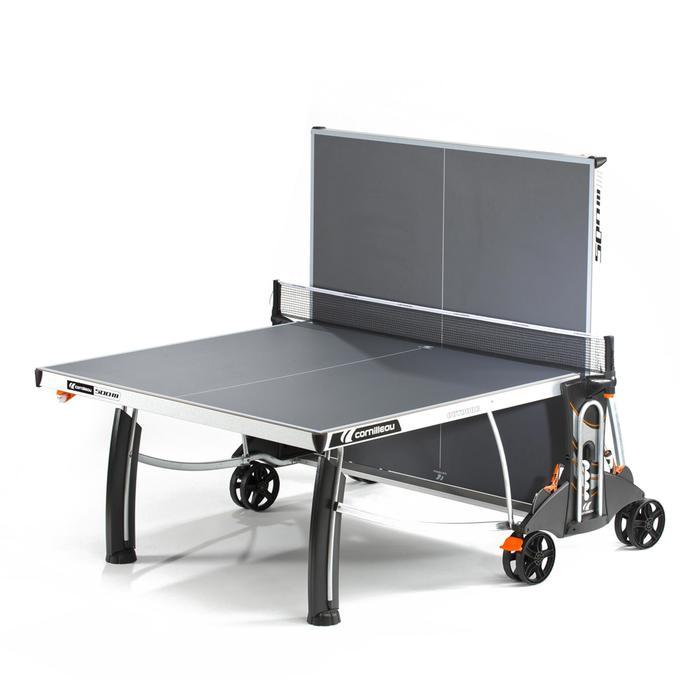 Tafeltennistafel / pingpongtafel outdoor 500M Crossover grijs