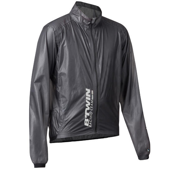 Regenjasje 900 Light voor fietsers, herenmodel, grijs - 1053229