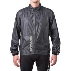 Regenjasje 900 Light voor fietsers, herenmodel, grijs - 1053233