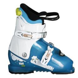 Skischoenen voor kinderen Kid 500 Pumzi wit/blauw