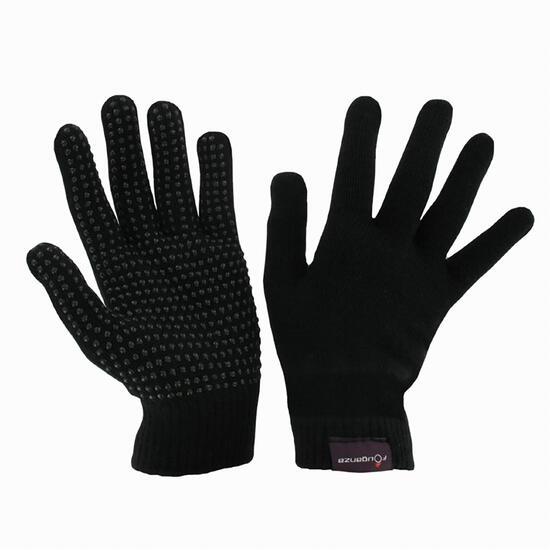 Warme tricot rijhandschoenen voor volwassenen zwart - 1053405