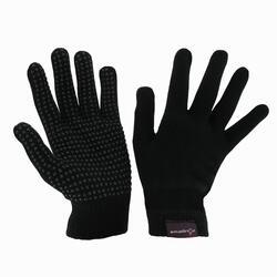 Adult Knitted Horseback Riding Gloves - Black