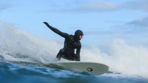 surfen in winter