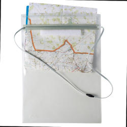 Supple map pouch for hiking and orienteering