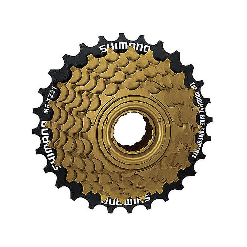 BIKE GEARING Cycling - Shimano TZ21 7 speed Freewheel bike cassette - 14x28  SHIMANO - Bike Brakes and Transmission