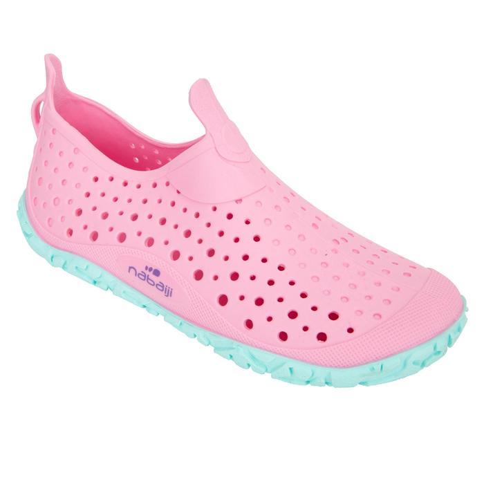 女童款泳池鞋AQUADOTS 粉紅藍色