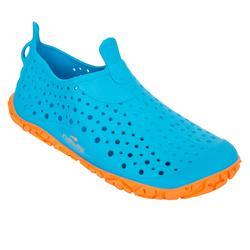男童款泳池用鞋Aquadots - 藍色 橘色