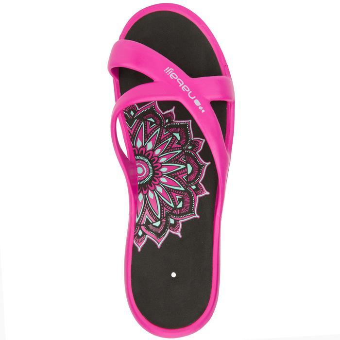 Zehensandalen Tonga 500 Damen pink/schwarz