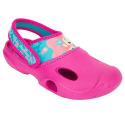 Ticlog 女童泳池木屐 - 新款美人魚圖案 粉紅