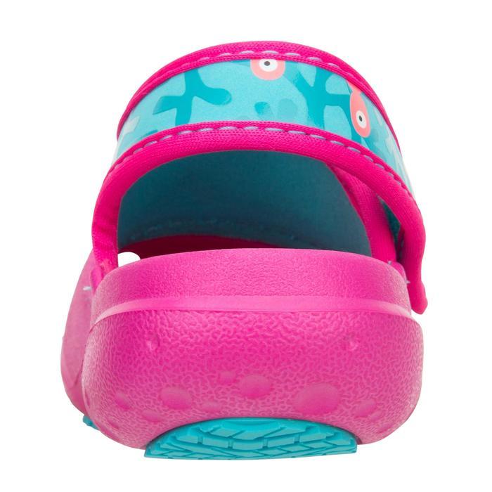 Bade-Clogs 100 Kinder rosa mit Meerjungfrau-Motiv