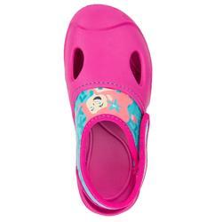 Bade-Clogs Ticlog Meerjungfrau Kinder rosa