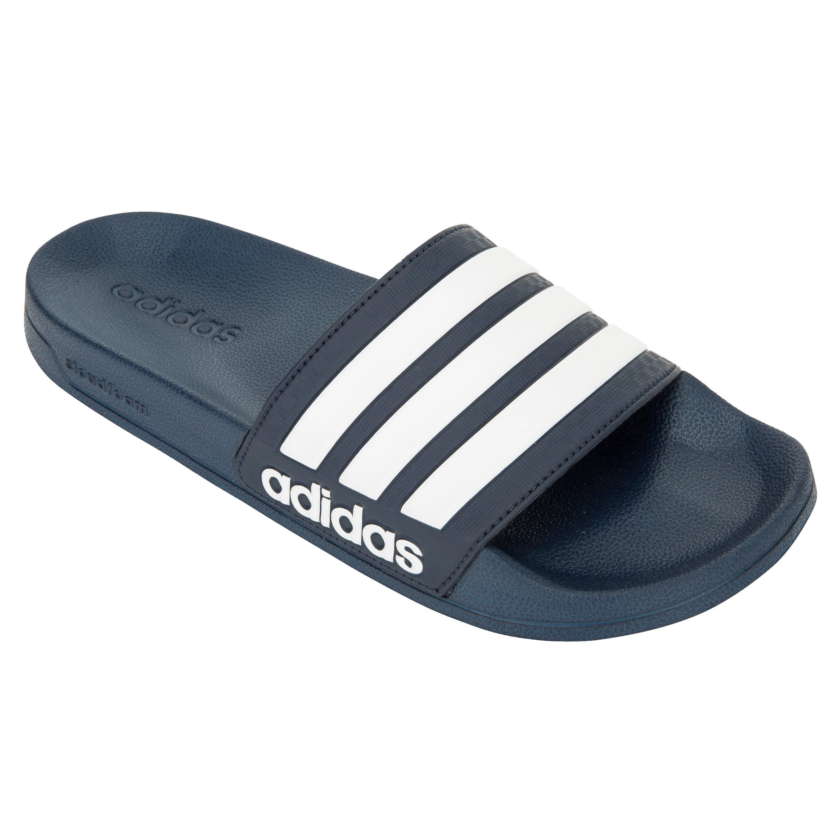 adidas badslippers heren adilette cloudfoam blauw wit. Black Bedroom Furniture Sets. Home Design Ideas