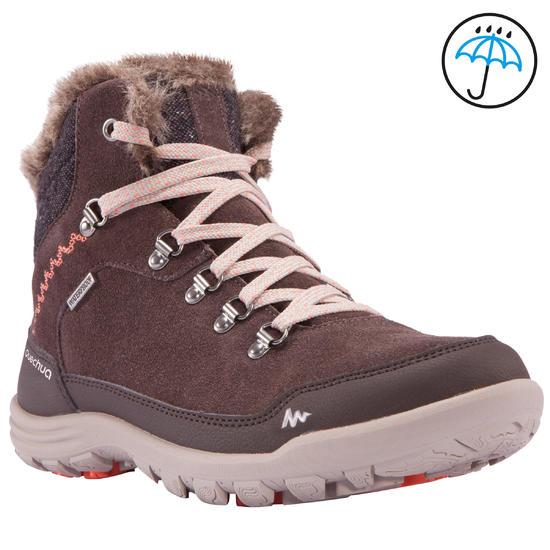 Warme en waterdichte damesschoenen voor trekking Arpenaz 500 mid Warm - 1055582