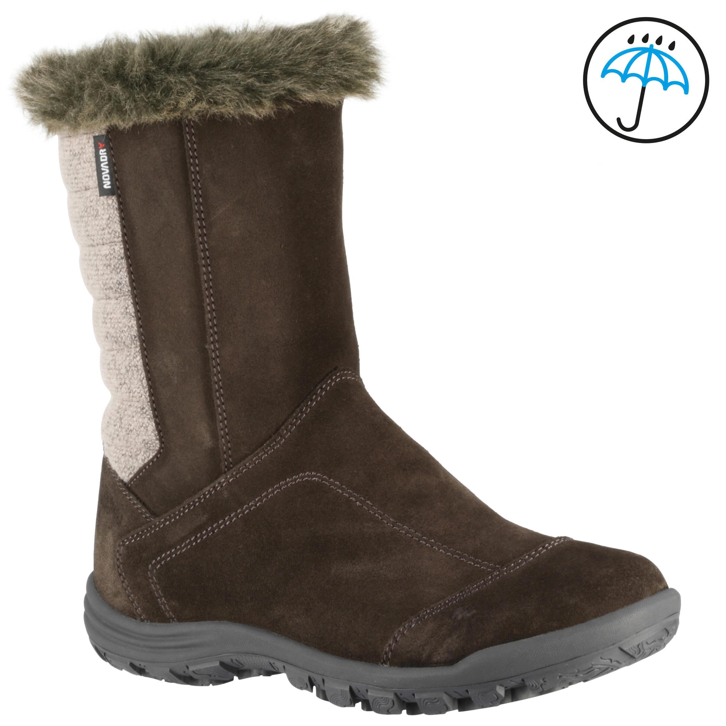 Quechua Laarzen voor wandelen in de sneeuw kinderen SH900 warm/waterdicht koffiebruin thumbnail