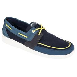 Zapatos náuticos hombre SAILING 100 azul/amarillo