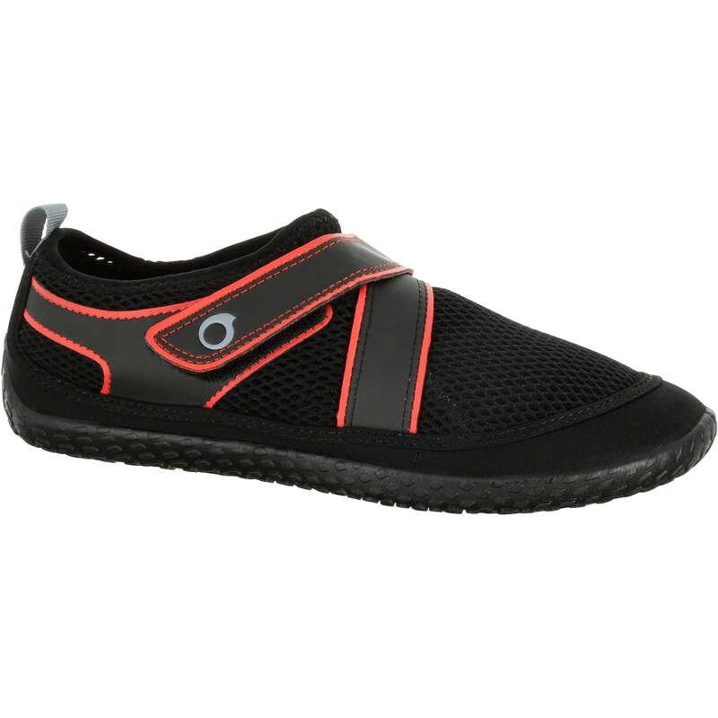 SNORKELING AQUASHOES Kayaking - 500 Aquashoes black red SUBEA - Kayaking