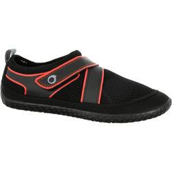 Zapatillas acuáticas Aquashoes 500 negro rojo