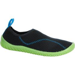 Zapatillas acuáticas Aquashoes 100 niños azul oscuro verde