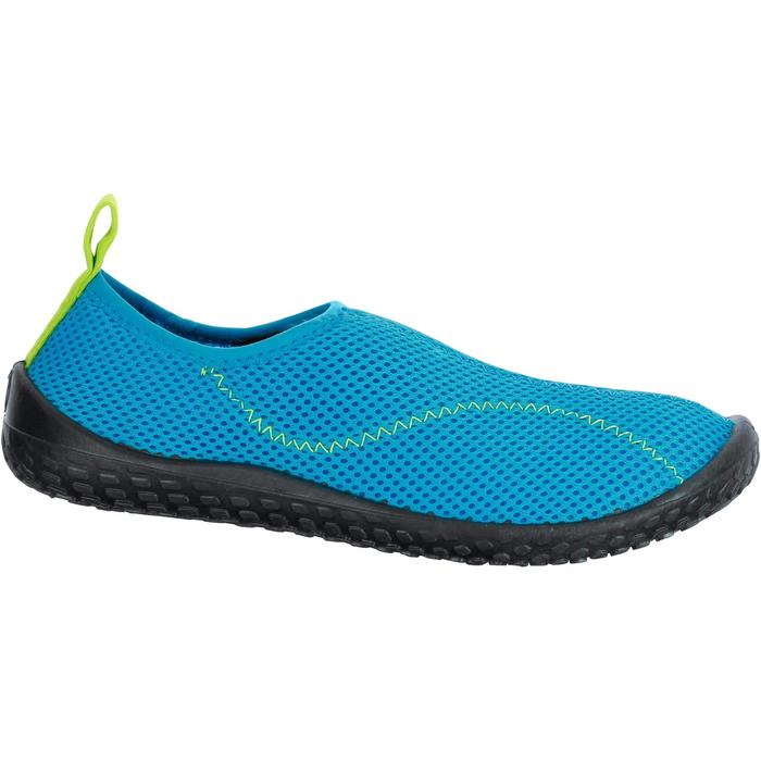 Escarpines Cangrejeras Zapatillas Acuáticas de Snorkel Subea SNK100 Niño Azul