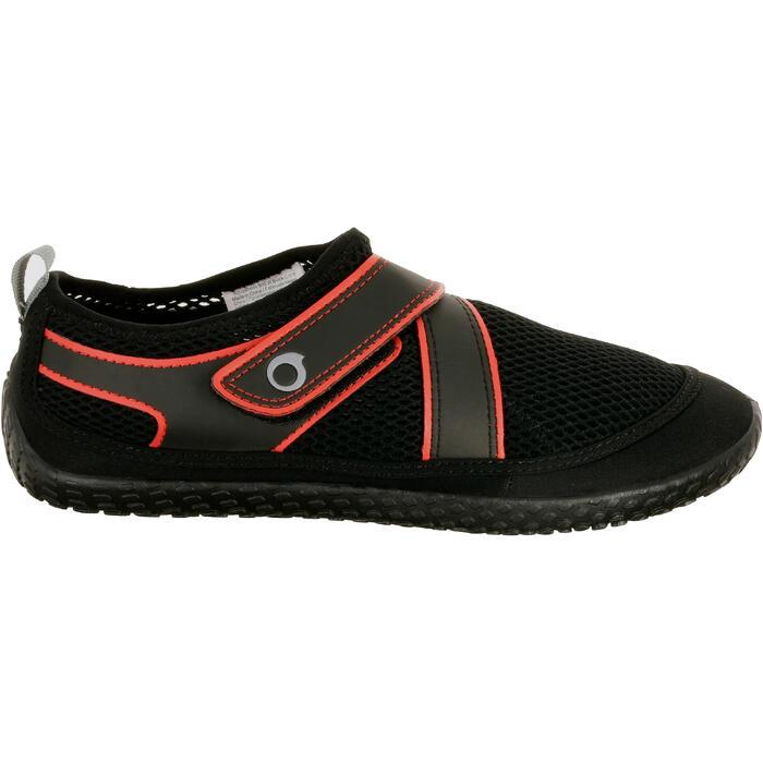 Chaussures aquatiques Aquashoes 500 noir rouge