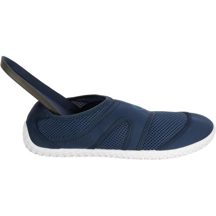 Chaussures aquatiques Aquashoes 100 noires turquoises - 1055981