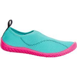 Waterschoenen Aquashoes 100 voor kinderen turquoise en roze