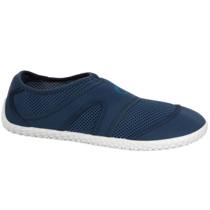 Chaussures aquatiques Aquashoes 100 noires turquoises - 1056008
