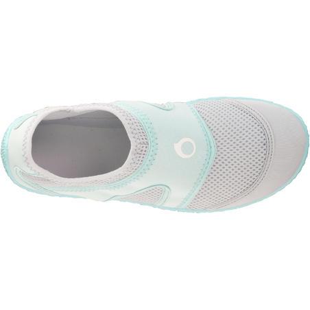 100 Aquashoes - Light Grey Mint Green