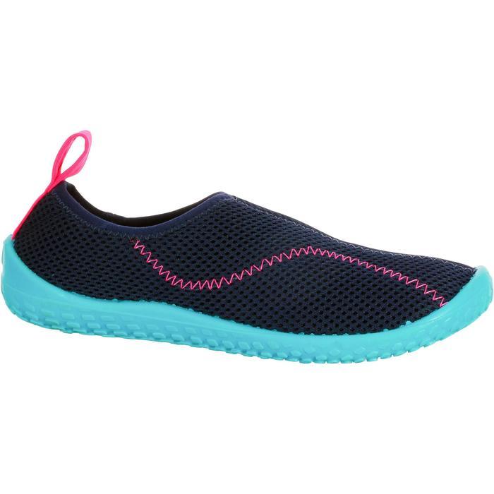 Zapatillas acuáticas Aquashoes 100 niño azul oscuro/turquesa