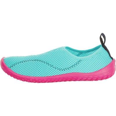 حذاء مائي 100 للأطفال - فيروزي ولون وردي