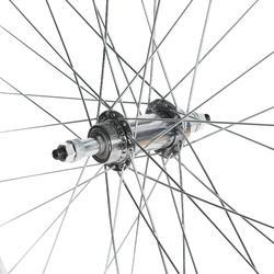 Achterwiel voor stadsfiets 28 enkelwandig met freewheel