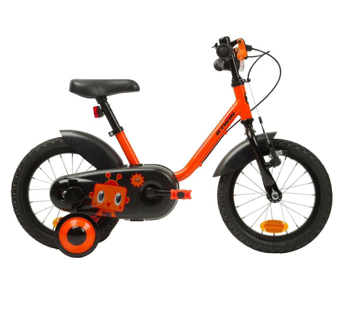 bicicleta_14pouces_enfant_decathlon_btwin_ORANGE