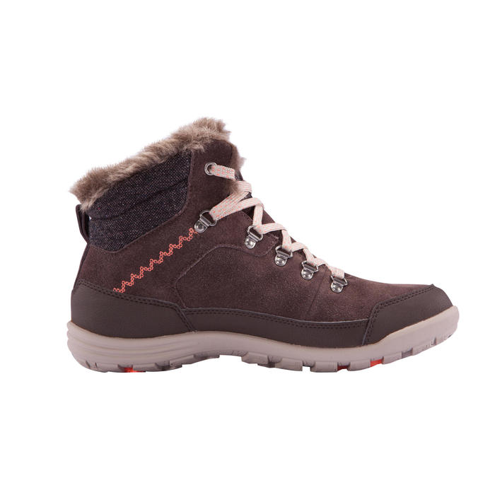 Wandelschoenen voor de sneeuw dames SH500 warm waterdicht bruin