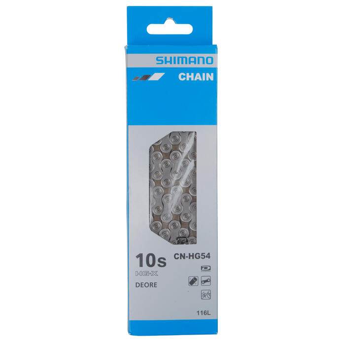 CHAINE SHIMANO DEORE 10 VITESSES HG54 - 1056291