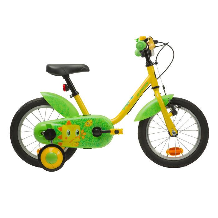 Kinderfahrrad 14 Zoll Dinosaur 500 gelb/grün