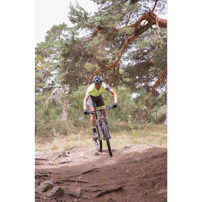 "Rockrider 920 27.5"" Mountain Bike - Grey/Lime - 1056407"
