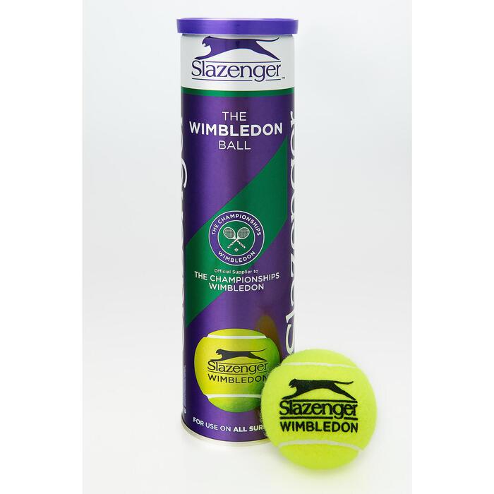 Tennisballen Wimbledon 4 stuks geel - 1056421