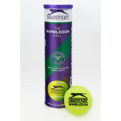 Tennisballen Wimbledon 4 stuks geel