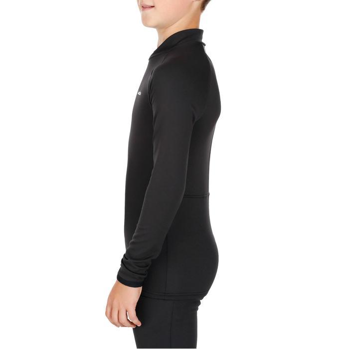 Camiseta Interior Térmica de Esquí Wed'ze Freshwarm Niños Negro