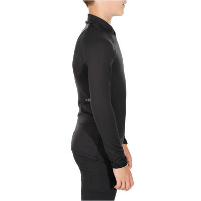 Kids' Ski Base Layer Top FRESHWARM Black