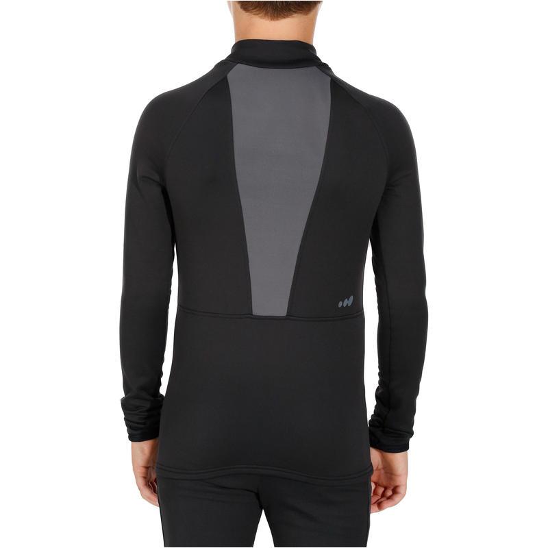 เสื้อตัวในเพื่อการเล่นสกีสำหรับเด็กรุ่น Freshwater (สี Black P)