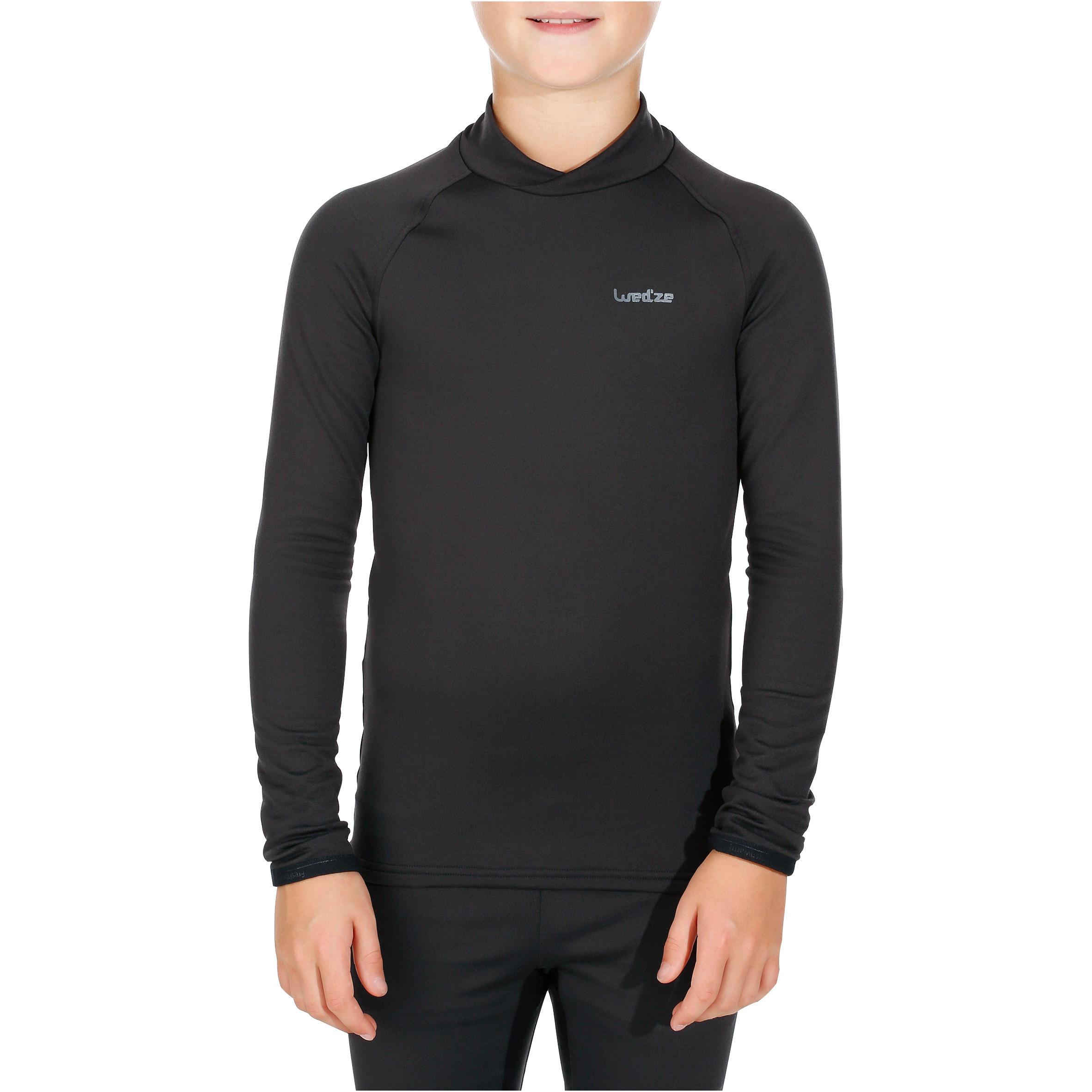 Sous-vêtement haut de ski enfant Frais et chaud Noir